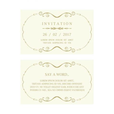 Kostenlose Vorlage Einladung Hochzeit Einladung Zur Hochzeit Mit Einigen Verzierungen Der Kostenlosen Vektor