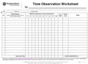 Process Study Template by Time Study Templates For Process Observation