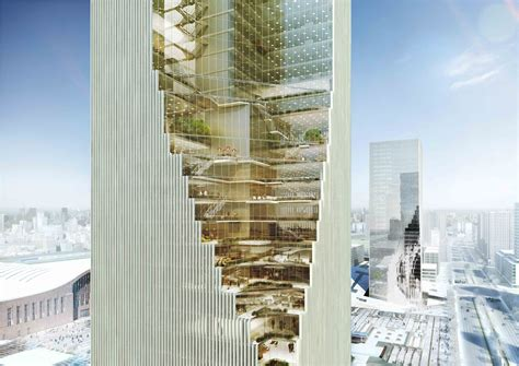 Architecture Visualization by Harbin Twin Towers Proposal Spatial Practice Archdaily