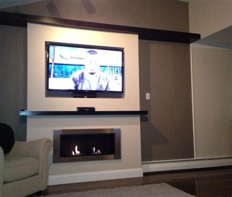 lata ventless fireplace recessed tv for the home