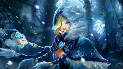 dota 2 rylai wallpaper dota 2 rylai the crystal maiden wallpaper 2560x1440 25474