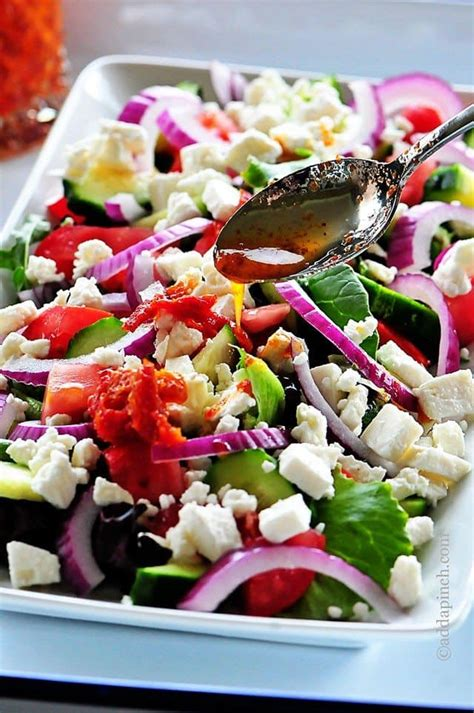 salad recipes mediterranean salad recipe add a pinch