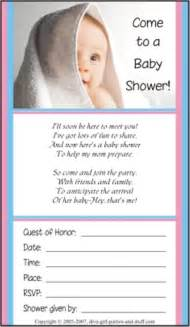 baby shower invitations and wording exles