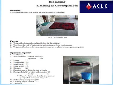 bed procedures basic nursing procedure bed