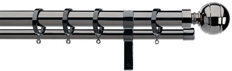 integra bay window curtain pole integra lexington 28mm double curtain pole black nickel