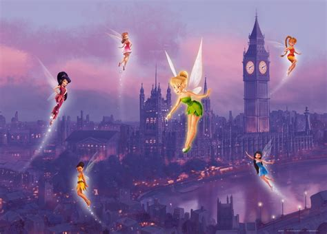 tinkerbell wall murals poster wall mural wallpaper disney tinkerbell fairies photo 160 cm x 115 cm 1
