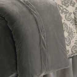 Velvet Coverlet Kerrington Slate Grey Velvet Duvet Cover Hiend Accents