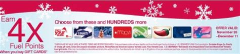 Kroger Bonus Fuel Points Gift Cards - kroger get 4x fuel points with gift card purchase