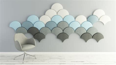 Modern Dining Room Decorating Ideas Fan Shaped Ginkgo Acoustic Panels By Stone Designs