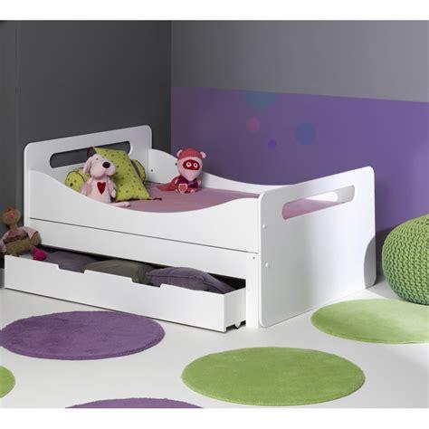 lit 140 enfant tiroir pour lit evolutif blanc 90x140 tir2blcm07