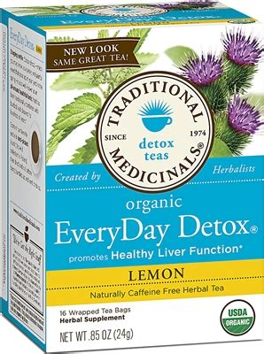 Every Day Detox Tea For Cholesterol by Traditional Medicinal Every Detox Tea Liver Health
