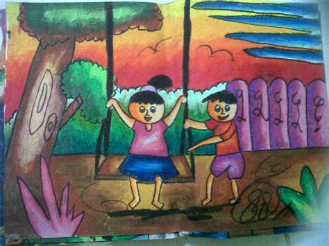 lukisan waktu sd