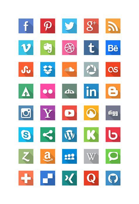 free sosial network icon 20 beautiful free flat social media icons sets 2017 colorlib