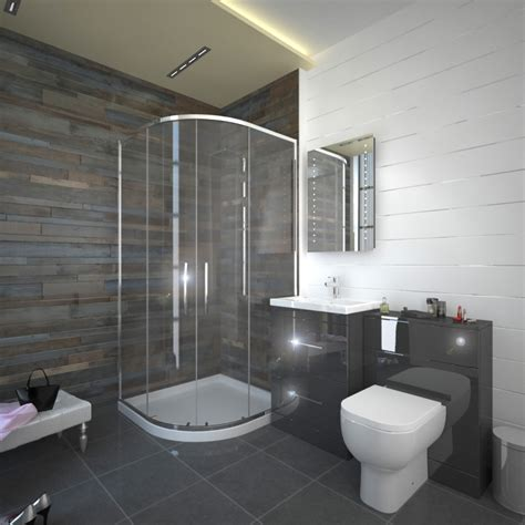 Black And White Bathroom Suites by Patello Grey 800 Quadrent Shower Suite Buy At