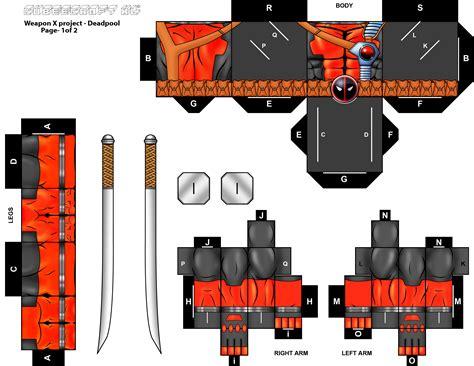 Deadpool Papercraft - deadpool cubeecraft xl pg 1 by randyfivesix on deviantart