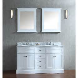 60 Vanity With Two Mirrors Ariel Bath Scmon60swh Montauk 60 Sink Bathroom