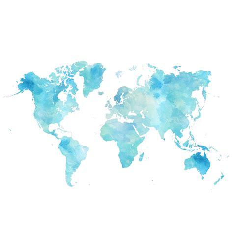 water color map world watercolor map digital