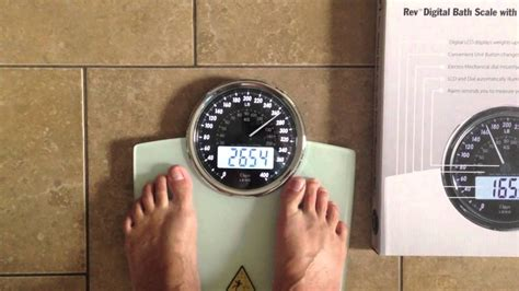 ozeri bathroom scale ozeri rev digital bathroom scale youtube