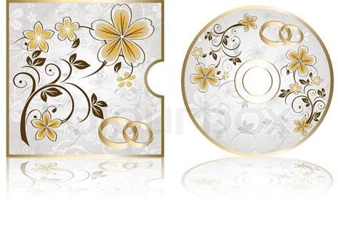 Wedding Background Cd by Wedding Cd Labels On A White Background Stock Vector