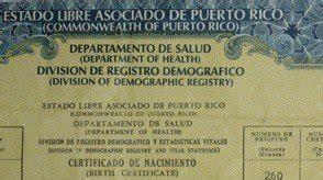 nuevos certificados de nacimiento de los puertorriquenos