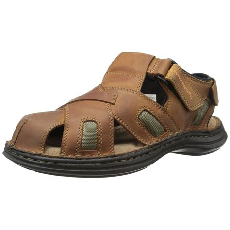Sandals Around Toe For by Hush Puppies Relief Fisherman Mens Brown Leather Closed Toe Sandals Ebay