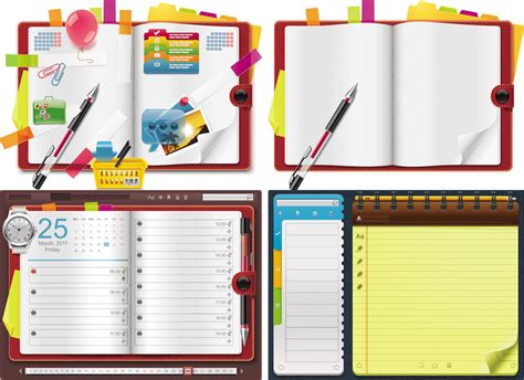 notebook templates for blogger office vector graphics blog page 2