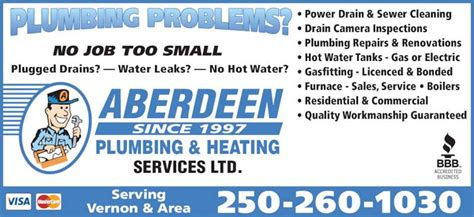 Plumbing Heating Services by Aberdeen Plumbing Heating Services Ltd Coldstream Bc