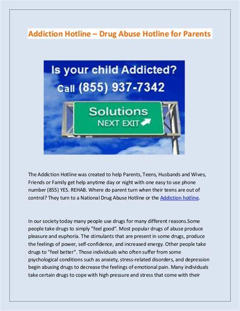 Detox Hotline by Addiction Hotline Abuse Hotline For Parents