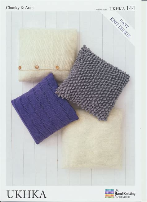 easy knit cushion cover easy knit design cushion covers aran chunky wool