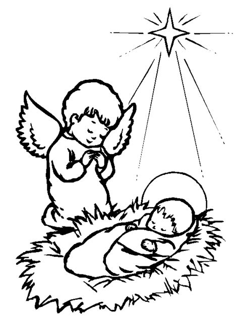 coloring pages of baby jesus in the manger clip art baby jesus clipart best