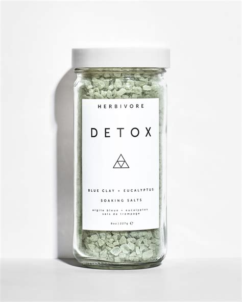 Detox Bath Ingredients by Detox Soaking Salts Herbivore Botanicals