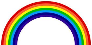 the colors of a rainbow roygbiv