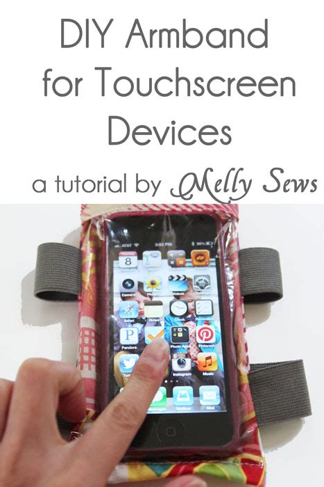 How To Make A Paper Touch Screen Phone - diy armband tutorial for touchscreen devices melly sews