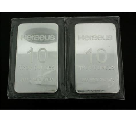 10 troy ounce silver bar price bullion bars 2 10 troy ounce heraeus silver bars