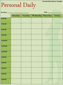 template for a daily schedule daily planner template free word s templates