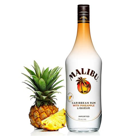 price of a bottle of malibu malibu pineapple rum 750ml crown wine spirits