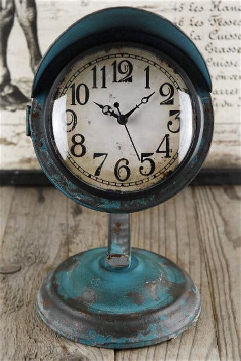 Retro Desk Clock by Retro Table Clock Blue