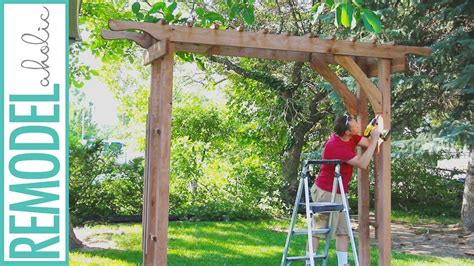 Wedding Arbor Plans by How To Build A Wood Arbor For Garden Yard Or Wedding