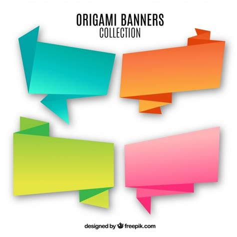 Origami Signs - origami signs vector free