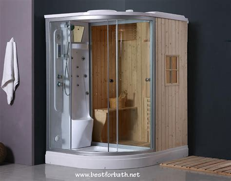 Steam Shower Enclosure With Traditional Sauna B001 Best Bathroom Sauna Showers