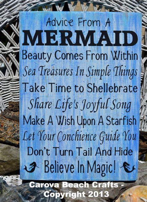 quot mermaid quot custom wooden sign coastal home decor beach advice from a mermaid beach decor beach from signs of love