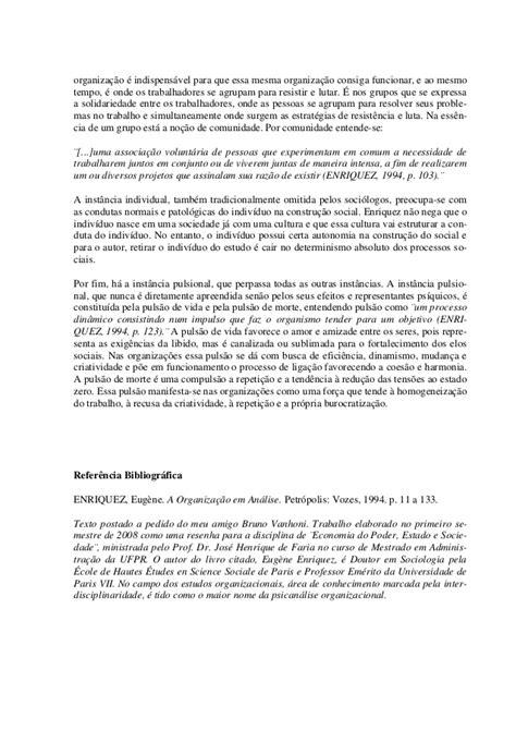 A organização em análise contribuições da psicanálise