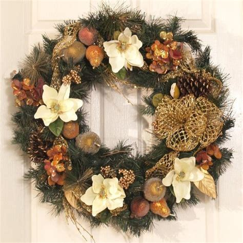 how to decorate a christmas wreath with mesh ribbon