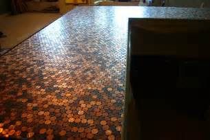penny bar top diy pick a penny project 9 trendy diys for your loose change