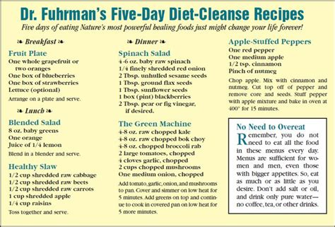 5 Day Clean Detox Plan by Five Day Cleanse Detox Cleanse