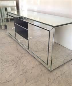 mirrored tv cabinet a16空间设计 家具 矮柜 tv