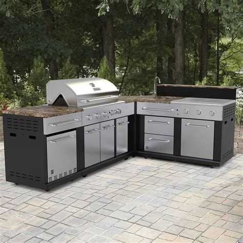 shop master forge corner modular outdoor kitchen set
