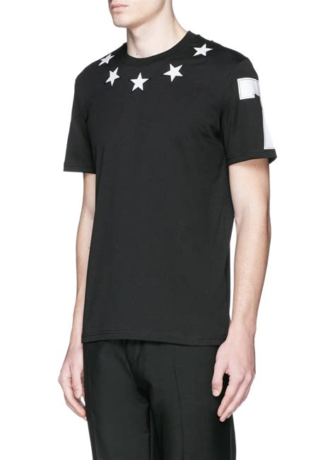 givenchy shirt givenchy embroidery cotton t shirt in black for null lyst