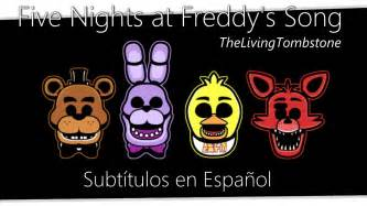 Five nights at freddy s song sub espa 241 ol fanmade youtube