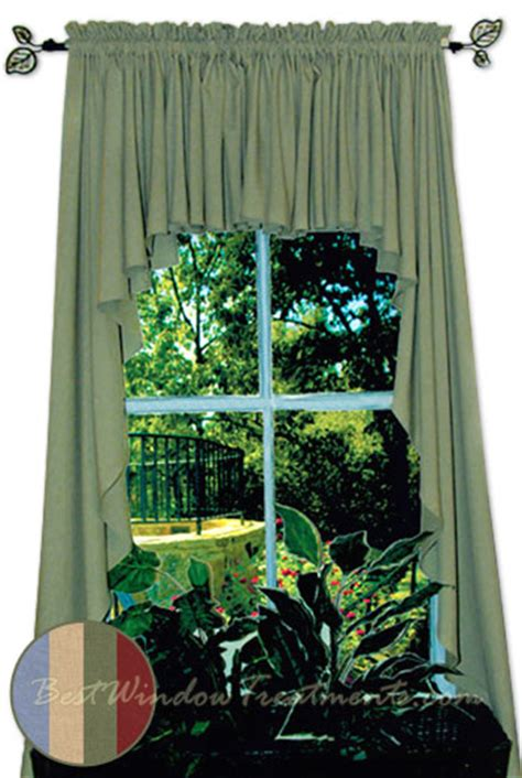 Blue Swag Curtains Ultra Fullness Glasgow Swag Curtains In Blue Harvest